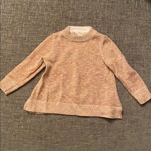 crewcuts rose gold sparkly sweater